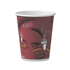 SCC 370SIPK Dart Solo Paper Hot Drink Cups in Bistro Design SCC370SIPK