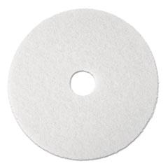 MMM 08477 3M White Super Polish Floor Pads 4100 MMM08477