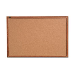 QRT 85223 Quartet Cork Bulletin Board with Oak Frame QRT85223