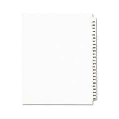 AVE 01338 Avery Preprinted Legal Exhibit Index Tab Dividers with Black and White Tabs AVE01338