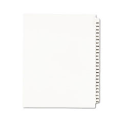 AVE 01340 Avery Preprinted Legal Exhibit Index Tab Dividers with Black and White Tabs AVE01340