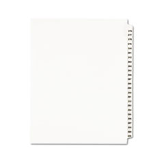 AVE 01341 Avery Preprinted Legal Exhibit Index Tab Dividers with Black and White Tabs AVE01341