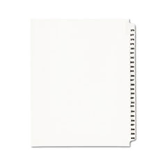 AVE 01345 Avery Preprinted Legal Exhibit Index Tab Dividers with Black and White Tabs AVE01345