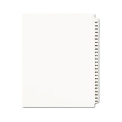 AVE 01346 Avery Preprinted Legal Exhibit Index Tab Dividers with Black and White Tabs AVE01346