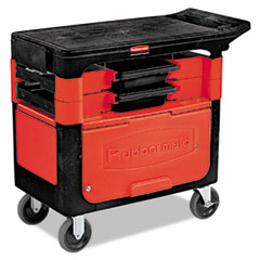 RCP 618088BLA Rubbermaid Commercial Trades Cart RCP618088BLA