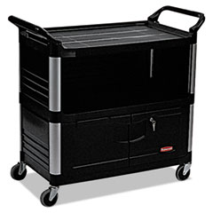 RCP 4095BLA Rubbermaid Commercial Xtra Equipment Cart RCP4095BLA