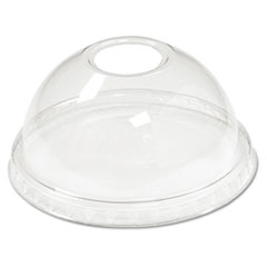 BWK YPDL20C Boardwalk Crystal-Clear Sundae/Cold Cup Dome Lids BWKYPDL20C