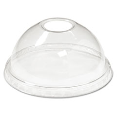 BWK YPDL24C Boardwalk Crystal-Clear Sundae/Cold Cup Dome Lids BWKYPDL24C
