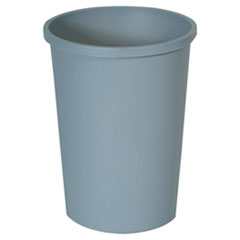 RCP 2947GRA Rubbermaid Commercial Untouchable Large Plastic Round Waste Receptacle RCP2947GRA