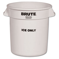 RCP 9F86WHI Rubbermaid  Commercial Brute  Ice-Only Container RCP9F86WHI