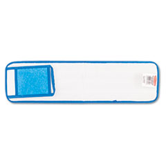 RCP Q411BLU Rubbermaid Commercial Microfiber Wet Mopping Pad RCPQ411BLU