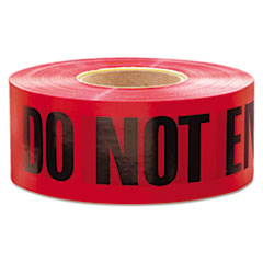 "EML 11081 Empire Do Not Enter Barricade Tape, 3"" x 1000 ft, ""Do Not Enter"" Text, Red/Black EML11081"