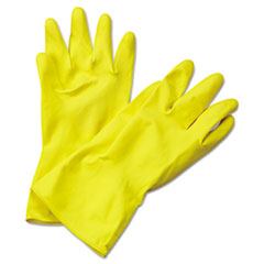 BWK 242XL Boardwalk Flock-Lined Latex Cleaning Gloves BWK242XL