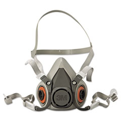 MMM 6200 3M Half Facepiece Respirator 6000 Series, Reusable MMM6200