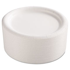 AJM CP9AJCWWH14 AJM Packaging Corporation Premium Coated Paper Plates AJMCP9AJCWWH14