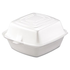 DCC 50HT1 Dart Foam Hinged Lid Containers DCC50HT1