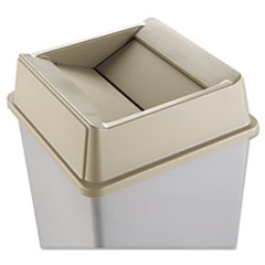 RCP 2664BEI Rubbermaid Commercial Untouchable Square Swing Top Lid RCP2664BEI