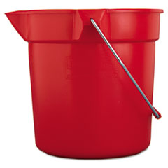 RCP 2963RED Rubbermaid Commercial BRUTE Round Utility Pail RCP2963RED