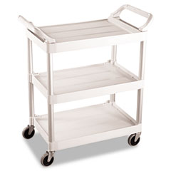 RCP 342488OWH Rubbermaid Commercial Three-Shelf Service Cart RCP342488OWH