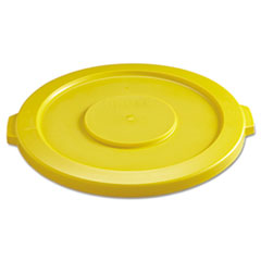 RCP 2631YEL Rubbermaid Commercial Round Brute Lid RCP2631YEL