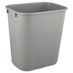 RCP 2955GRA Rubbermaid Commercial Deskside Plastic Wastebasket RCP2955GRA