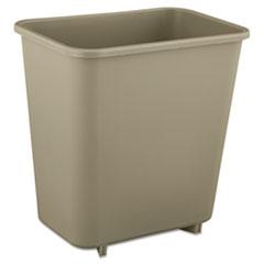 RCP 2952BEI Rubbermaid Commercial Deskside Plastic Wastebasket RCP2952BEI