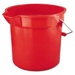 RCP 2614RED Rubbermaid Commercial BRUTE Round Utility Pail RCP2614RED