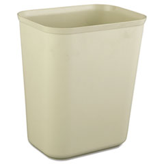 RCP 2540BEI Rubbermaid Commercial Fire Resistant Wastebasket RCP2540BEI