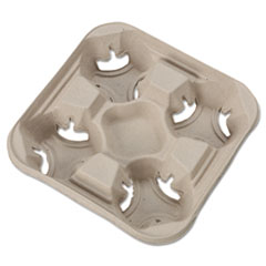HUH 20994CT Chinet StrongHolder Molded Fiber Cup Trays HUH20994CT
