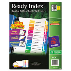 AVE 11082 Avery Customizable Table of Contents Ready Index Multicolor Dividers with Printable Section Titles AVE11082
