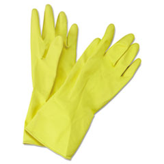 BWK 242M Boardwalk Flock-Lined Latex Cleaning Gloves BWK242M