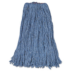 RCP F51812BLU Rubbermaid Commercial Non-Launderable Cotton/Synthetic Cut-End Wet Mop Heads RCPF51812BLU