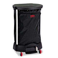 RCP 6350BLA Rubbermaid Commercial Premium Step-On Linen Hamper Bag RCP6350BLA