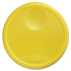 RCP 5730YEL Rubbermaid Commercial Round Storage Container Lids RCP5730YEL