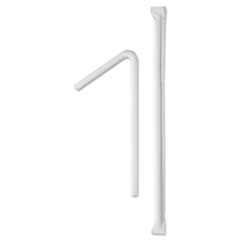 SCC 875WX Dart Wrapped Jumbo Flexible Straws SCC875WX