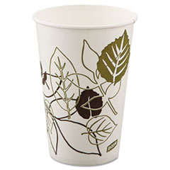 DXE 16PPATHPK Dixie Pathways Polycoated Paper Cold Cups DXE16PPATHPK