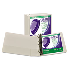 SAM 18287 Samsill Clean Touch Locking Round Ring View Binder Protected with an Antimicrobial Additive SAM18287