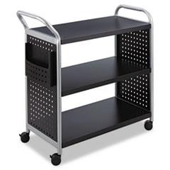 SAF 5339BL Safco Scoot Three Shelf Utility Cart SAF5339BL