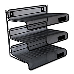 UNV 20006 Universal Deluxe Mesh Three-Tier Desk Shelf UNV20006
