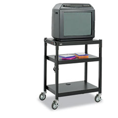 SAF 8932BL Safco Adjustable-Height Steel AV Cart SAF8932BL