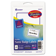 AVE 5151 Avery Flexible Adhesive Name Badge Labels AVE5151