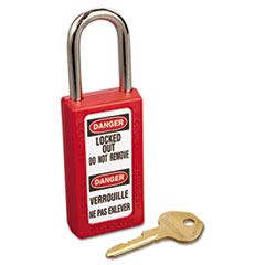 MLK 411RED Master Lock Lightweight Zenex Safety Lockout Padlock MLK411RED