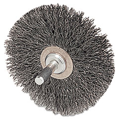 WEI 17617 Weiler Stem-Mounted Crimped Wire Wheel Conflex Brush 17617 WEI17617