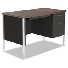 ALE SD4524BM Alera Single Pedestal Steel Desk ALESD4524BM