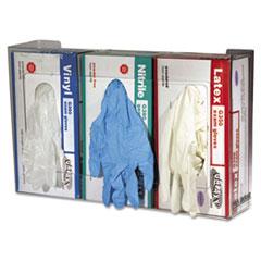 SJM G0805 San Jamar Clear Plexiglas Disposable Glove Dispenser, Three-Box SJMG0805
