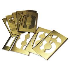 CHH 10011 C.H. Hanson  15-Piece Single-Number Brass Stencil Set 10011 CHH10011