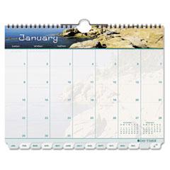 DTM 11352 Day-Timer Coastlines Tabbed Wall Calendar DTM11352