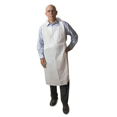 ATL 2PE2V Atlantis Plastics Disposable Medium-Weight Soft Embossed Poly Aprons ATL2PE2V