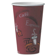 SCC 316SI Dart Solo Paper Hot Drink Cups in Bistro Design SCC316SI