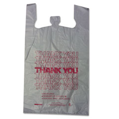 BPC 18830THYOU Barnes Paper Company Thank You High-Density Shopping Bags BPC18830THYOU